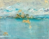 Abstract Painting in Light Blue