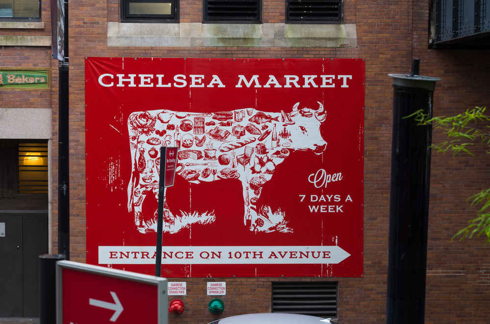 Sign for Chelsea Market, NYC