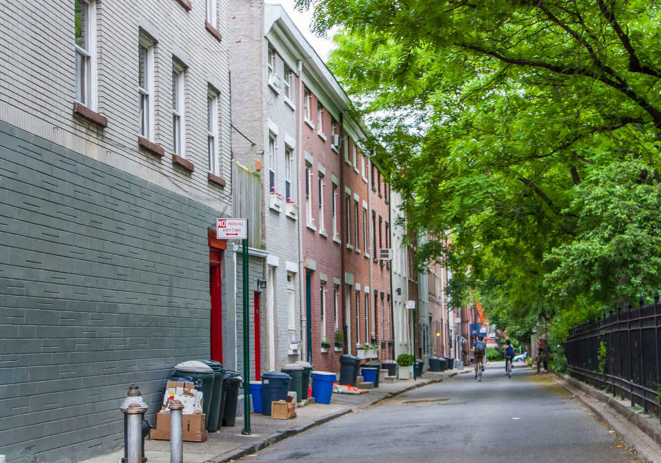 Streetscape in Cobble Hill Brooklyn
