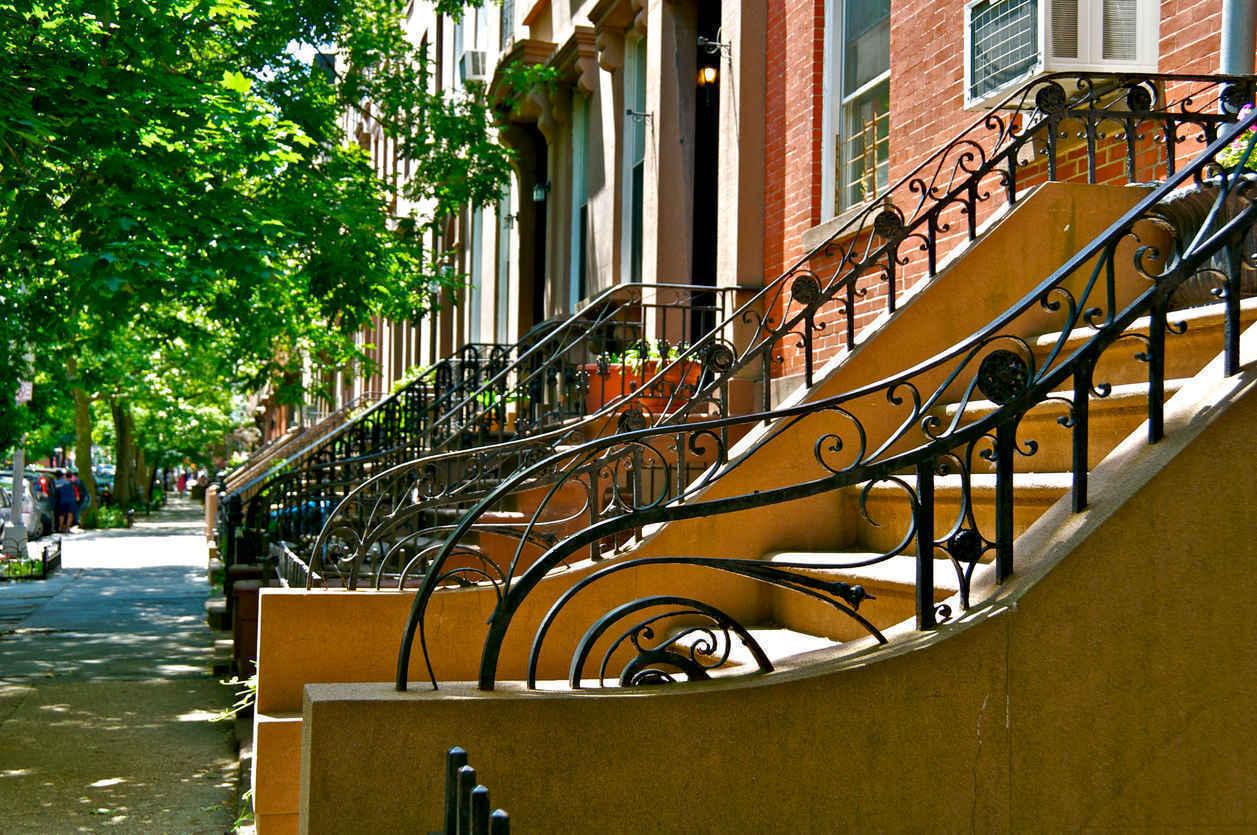 Tree-lined street in Cobble Hill Brooklyn
