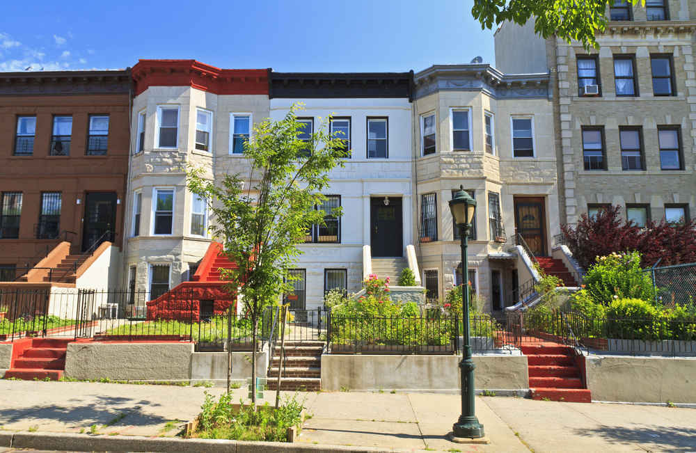 Townhouses in Crown Heights Brooklyn
