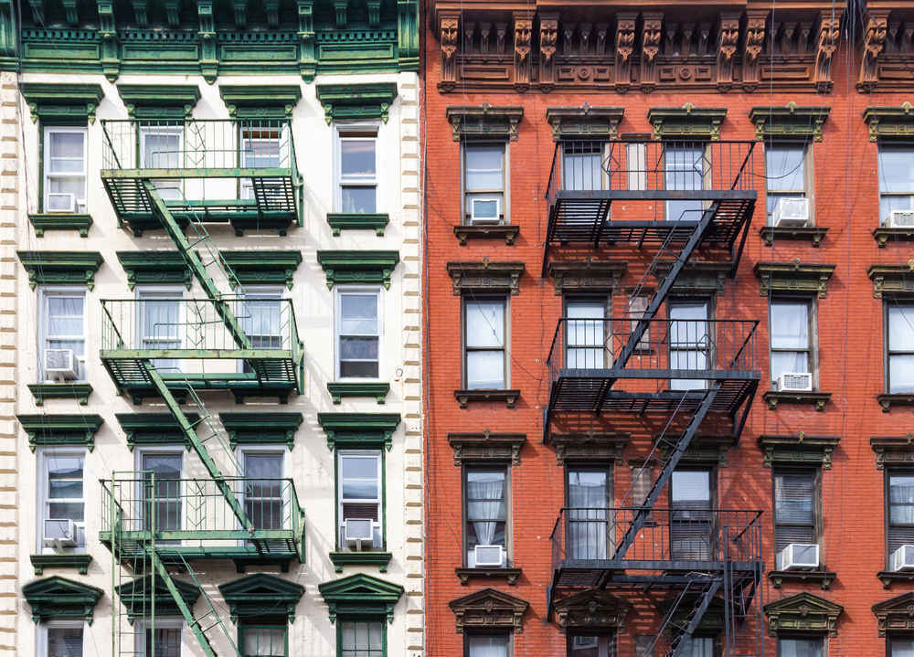 Residential architecture in the East Village, Manhattan