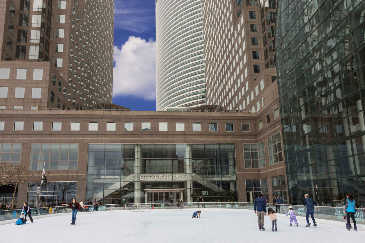 Ice skating rink at Brookfield Place in Battery Park City