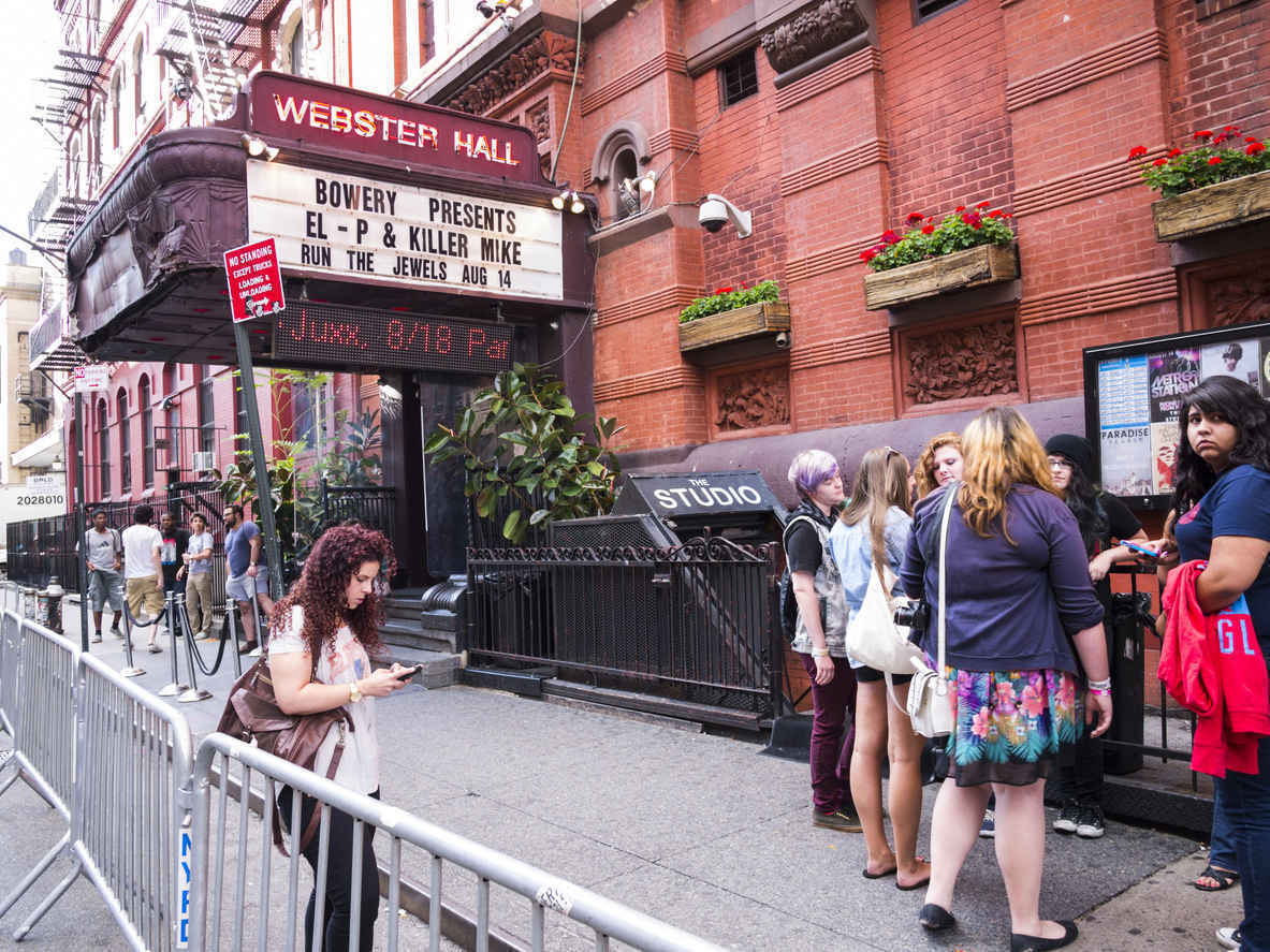 Webster Hall nightclub in East Village, Manhattan