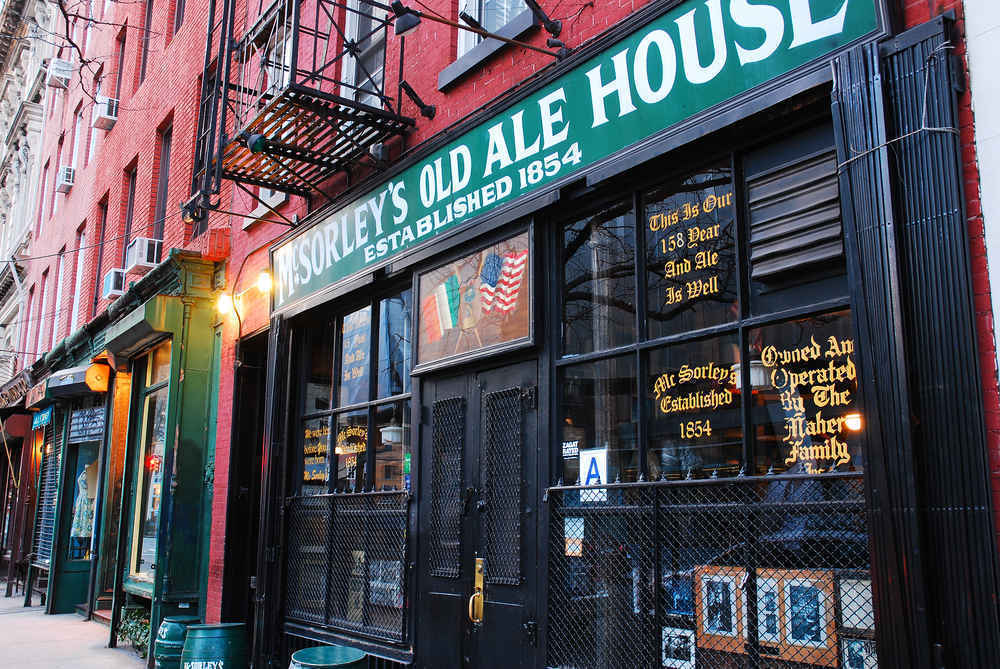 McSorley's Old Ale House, a 150 year old bar and pub in the East Village, New York