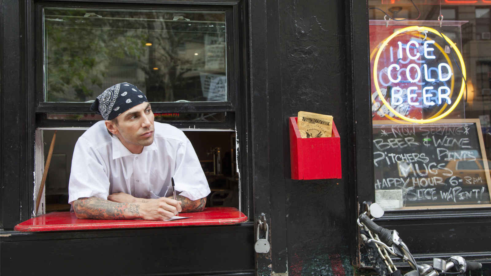 Pizza chef at his East Village pizzeria