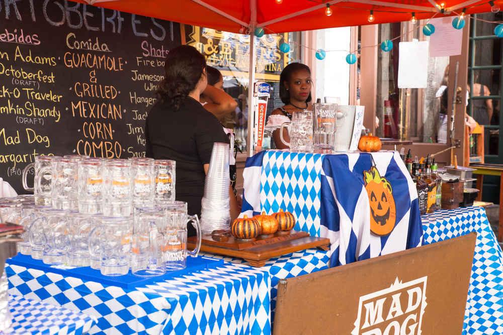 Vendors at Oktoberfest on Stone Street, Manhattan