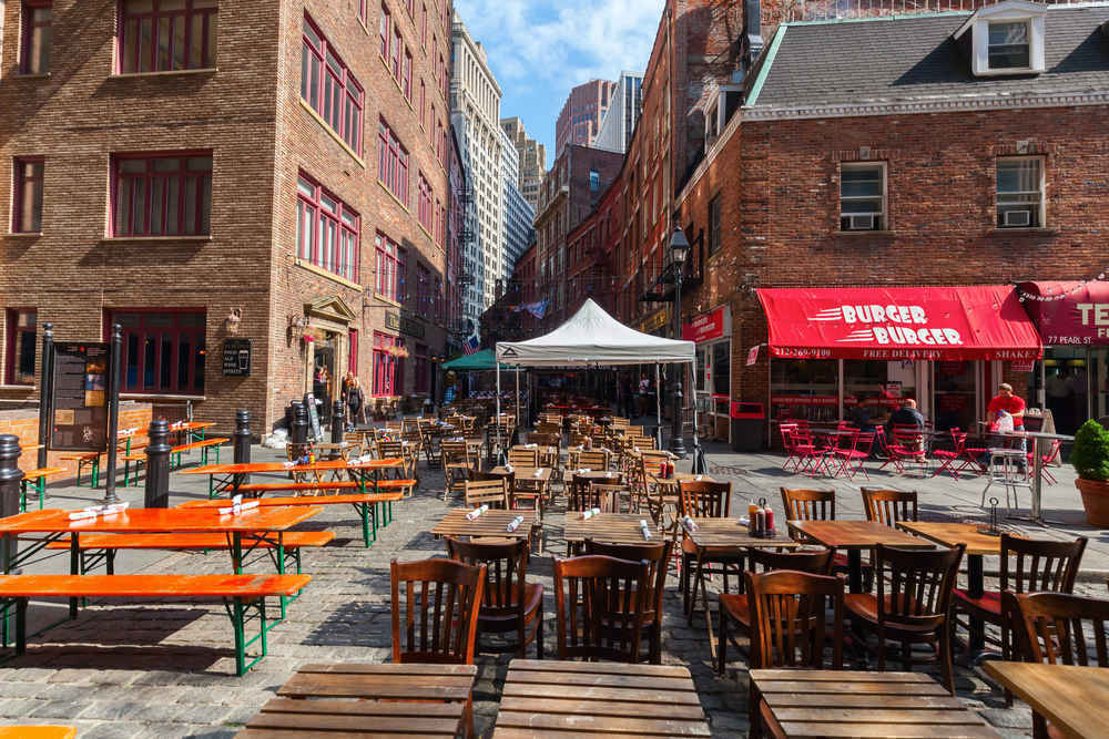 Bars and restaurants, Financial District, New York
