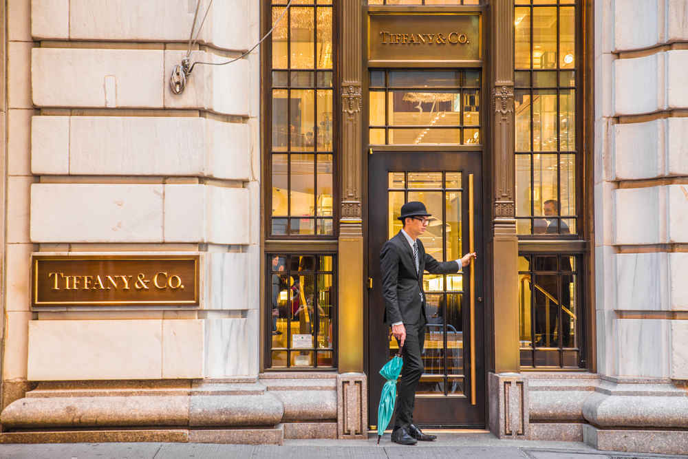 Tiffany & Co storefront, Wall Street, Financial Districy, NYC