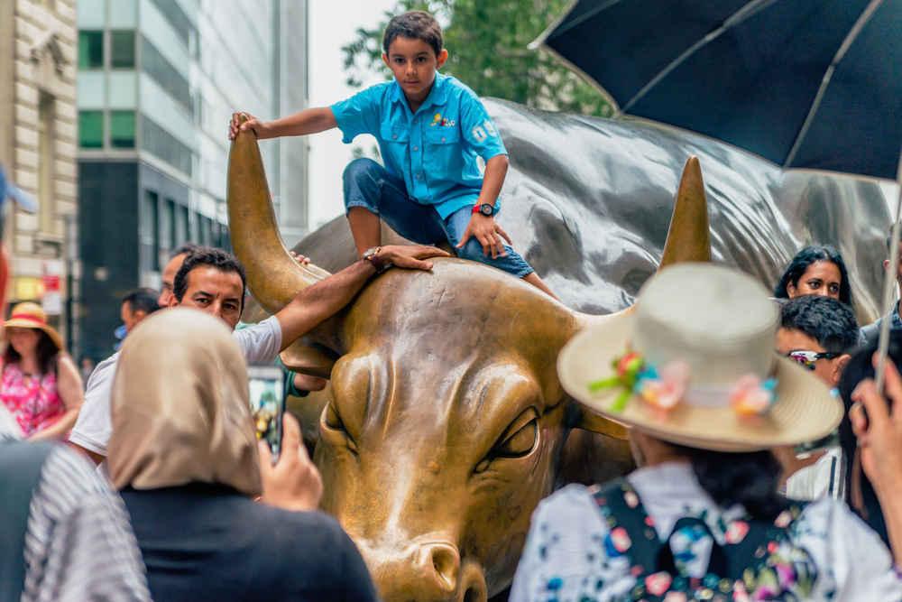 Charging Bull statue, Bowling Green, Manhattan, NYC