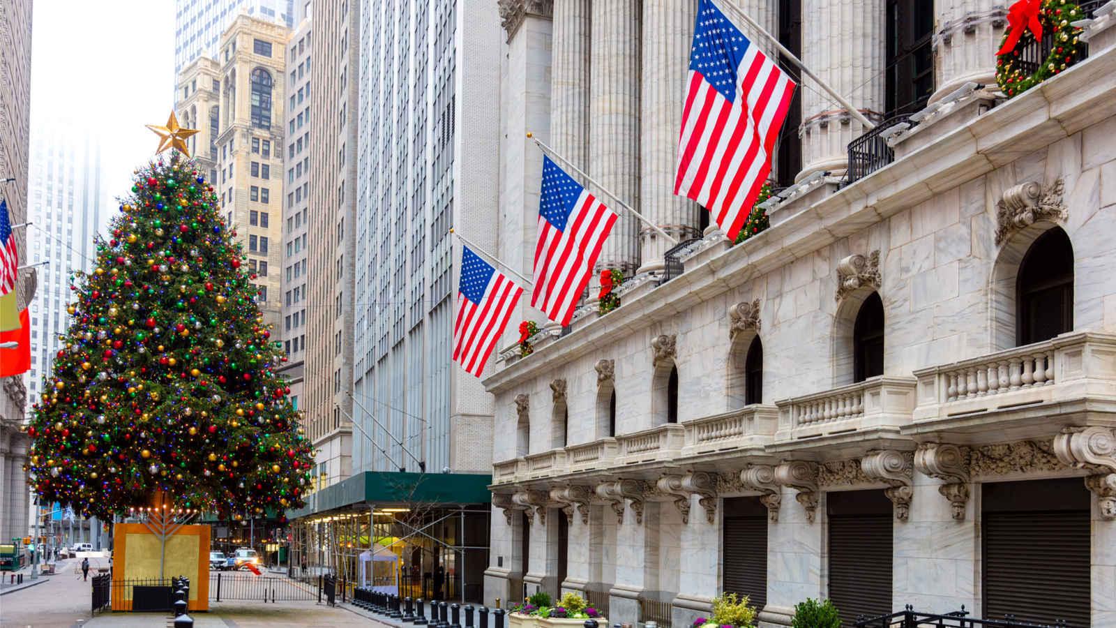 Facade of New York Stock Exchange building