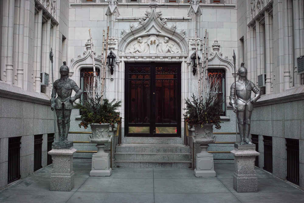 Apartment building entrance in Gramercy New York