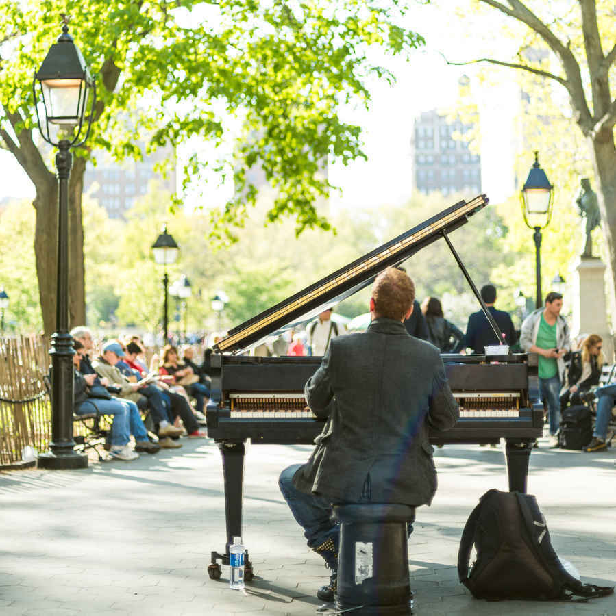Pianist, Washington Square Park, New York