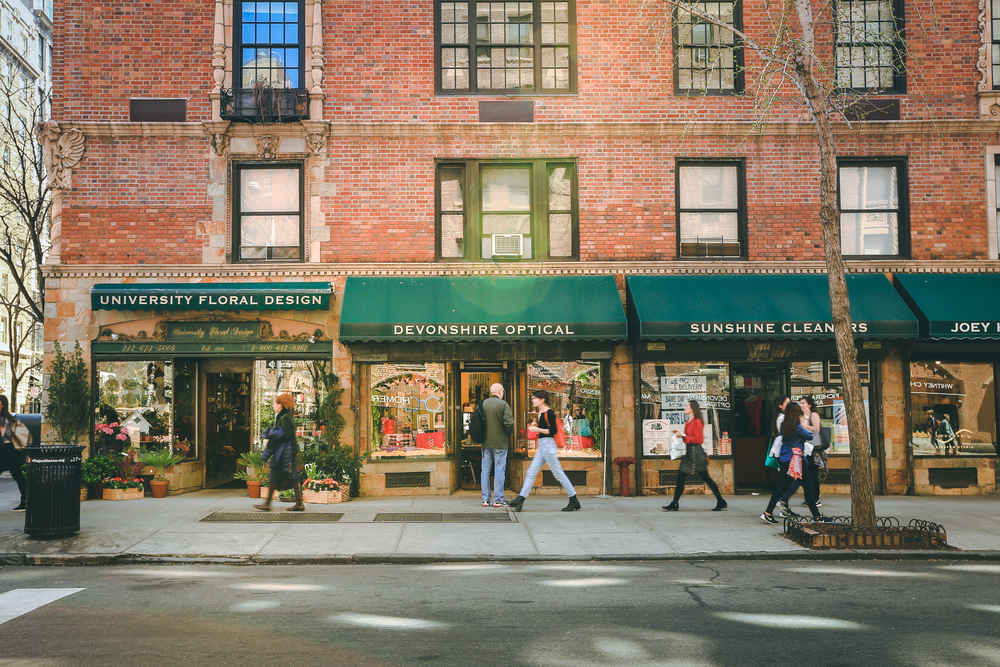 Shop storefronts, Greenwich Village, New York