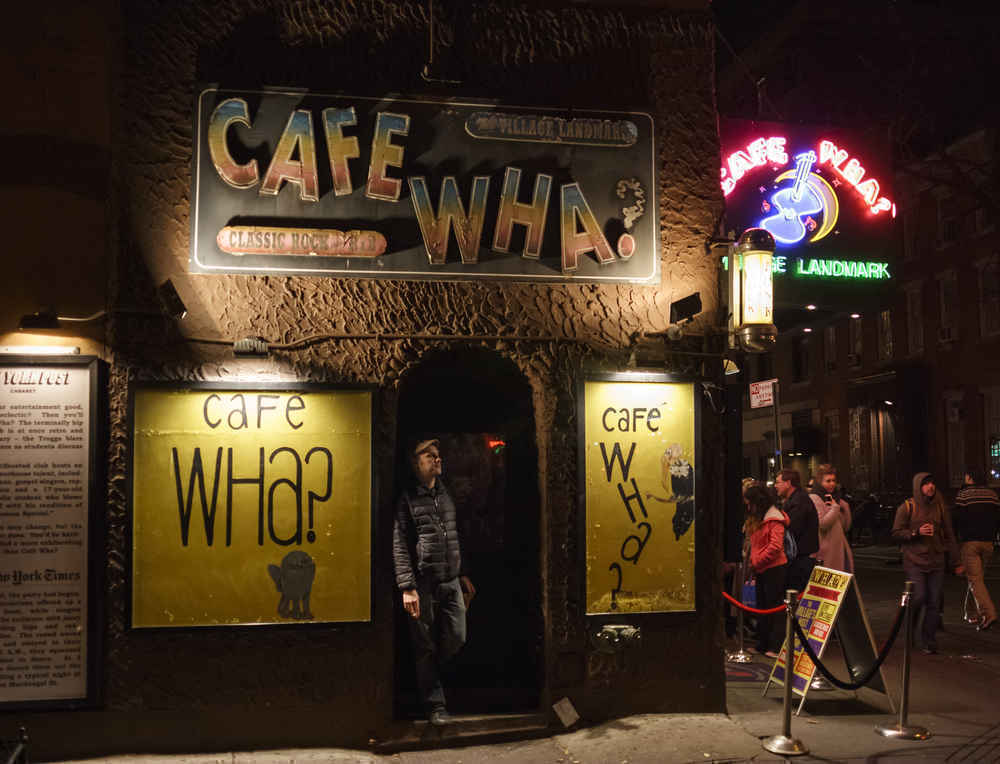 Cafe Wha? lounge in Greenwich Village, New York