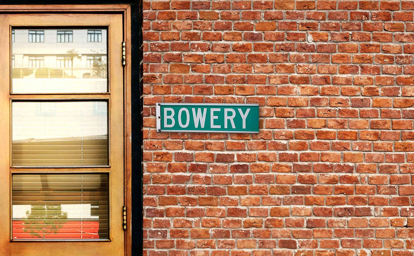 Bowery Street Sign, Manhattan, New York