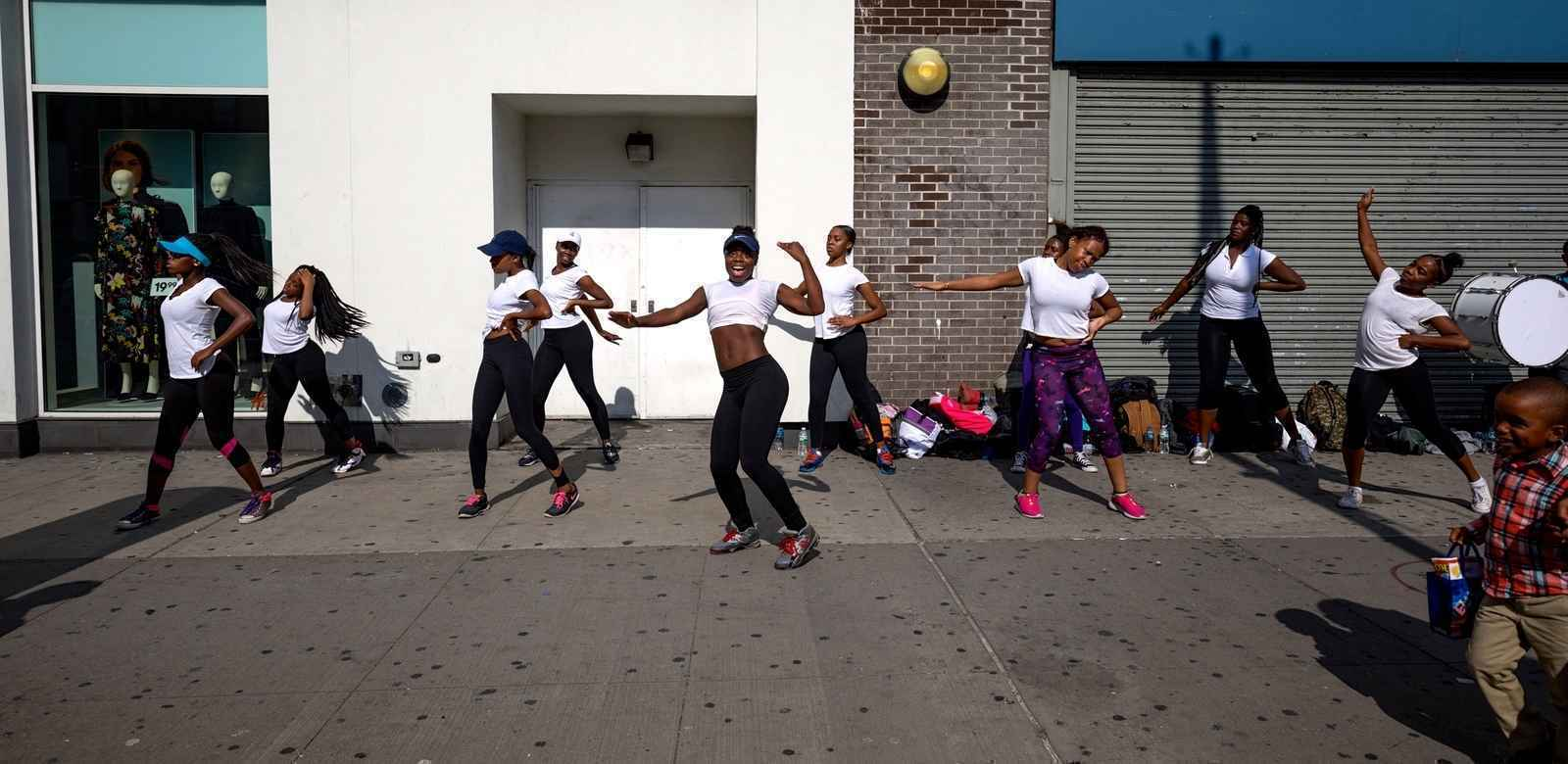 Dancers performing in Harlem, New York