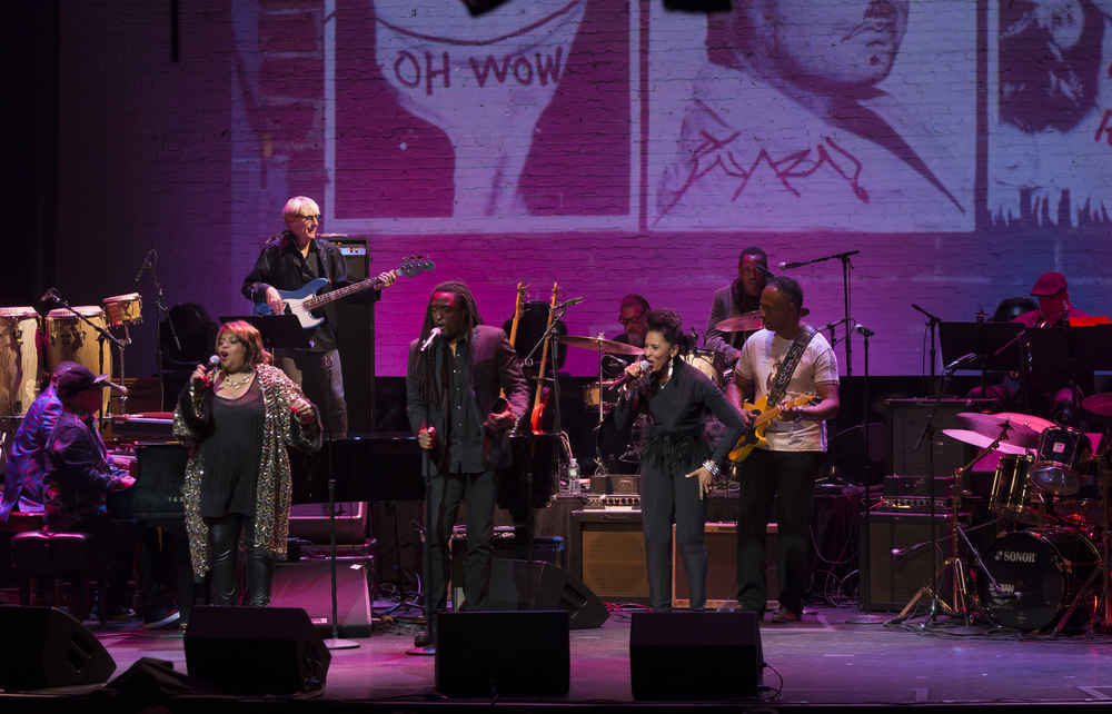 Jazz musicians performing at The Apollo Theater, Harlem, New York