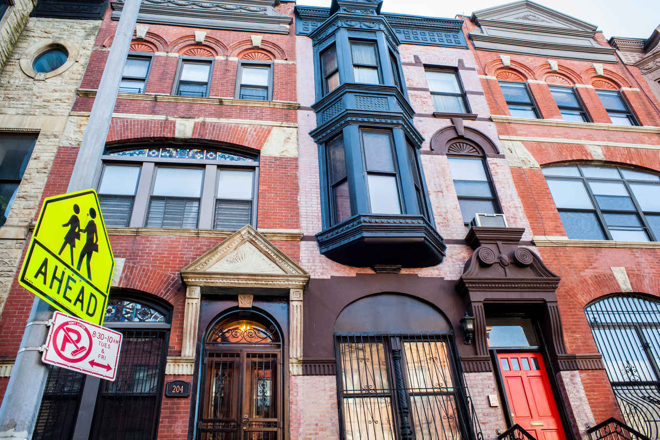Townhouses in Harlem New York