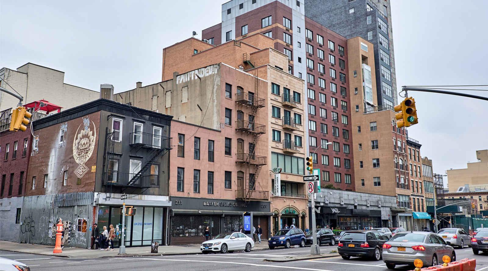 Architecture in Bowery neighborhood of Manhattan, New York