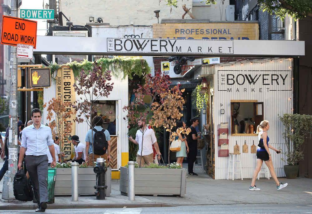 Bowery Market in Manhattan, New York