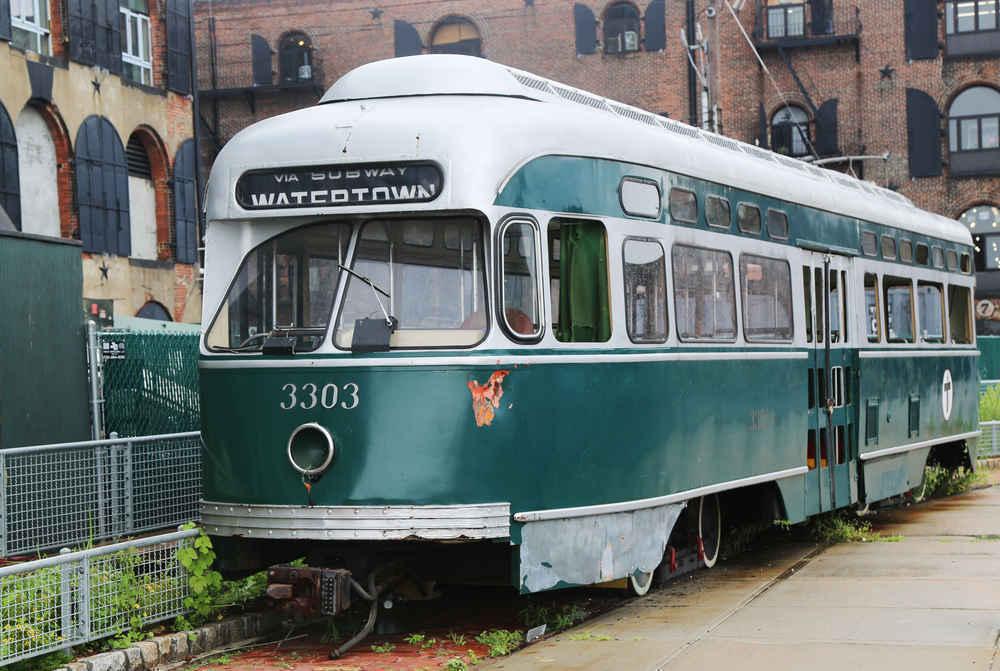 Old tram car in Red Hook Brooklyn