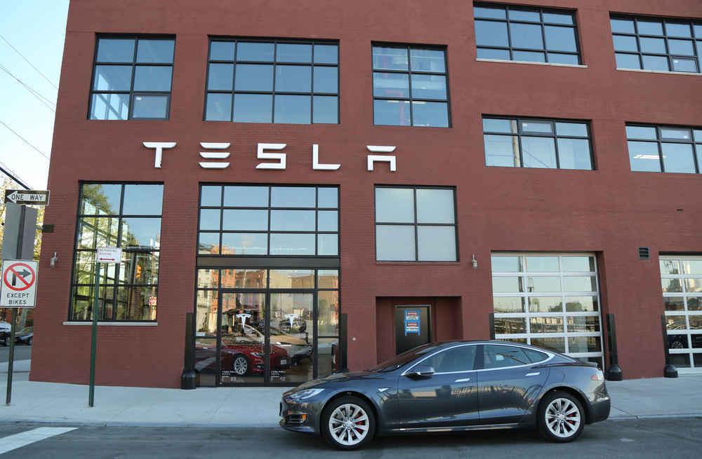 Tesla dealership in Red Hook Brooklyn