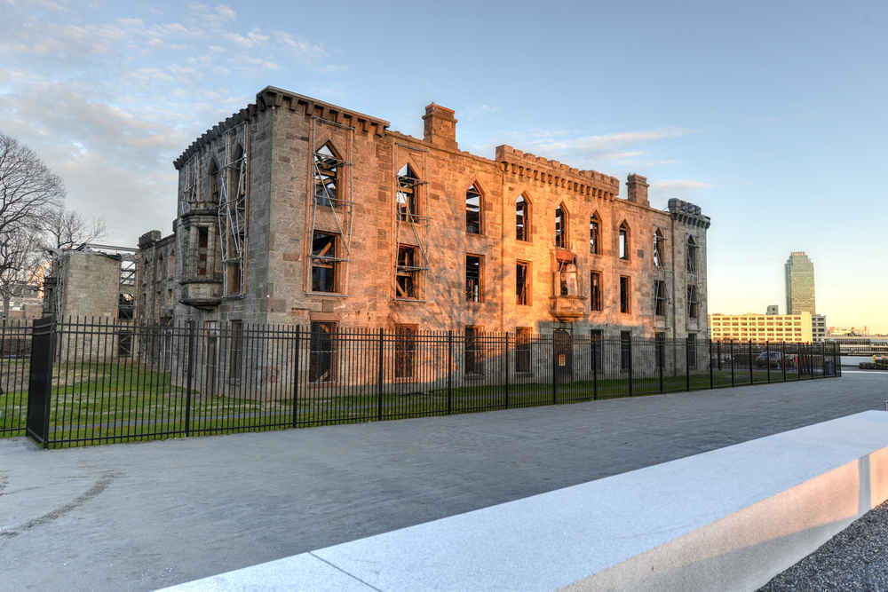 The ruins of Renwick Smallpox Hospital, Roosevelt Island, one of NYC's most haunted places