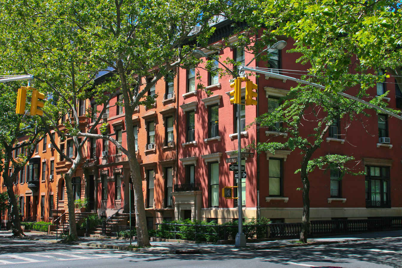 Historic rowhouses in Brooklyn Heights, New York