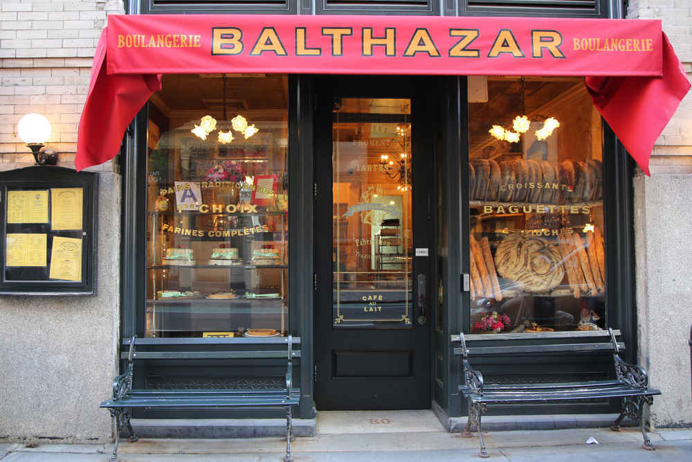 Balthazar, an iconic french restaurant and bakery in Soho, New York