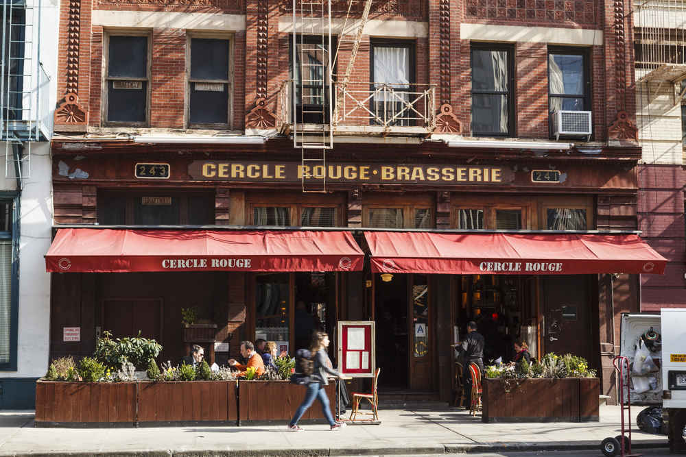Cercle Rouge restaurant in Tribeca Manhattan, New York