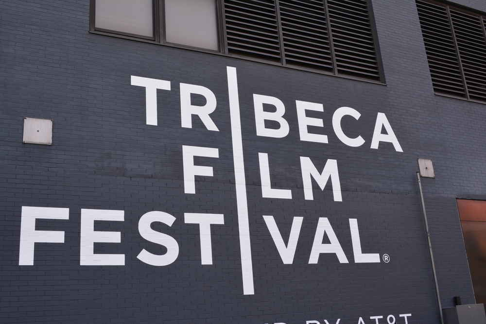 Tribeca Film Festival sign painted on wall
