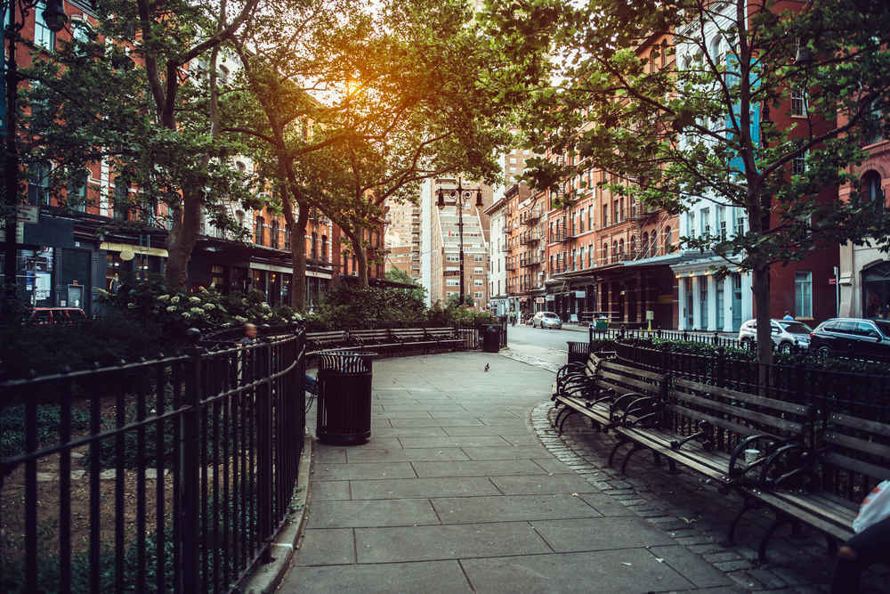 Duane Street Park in Tribeca New York