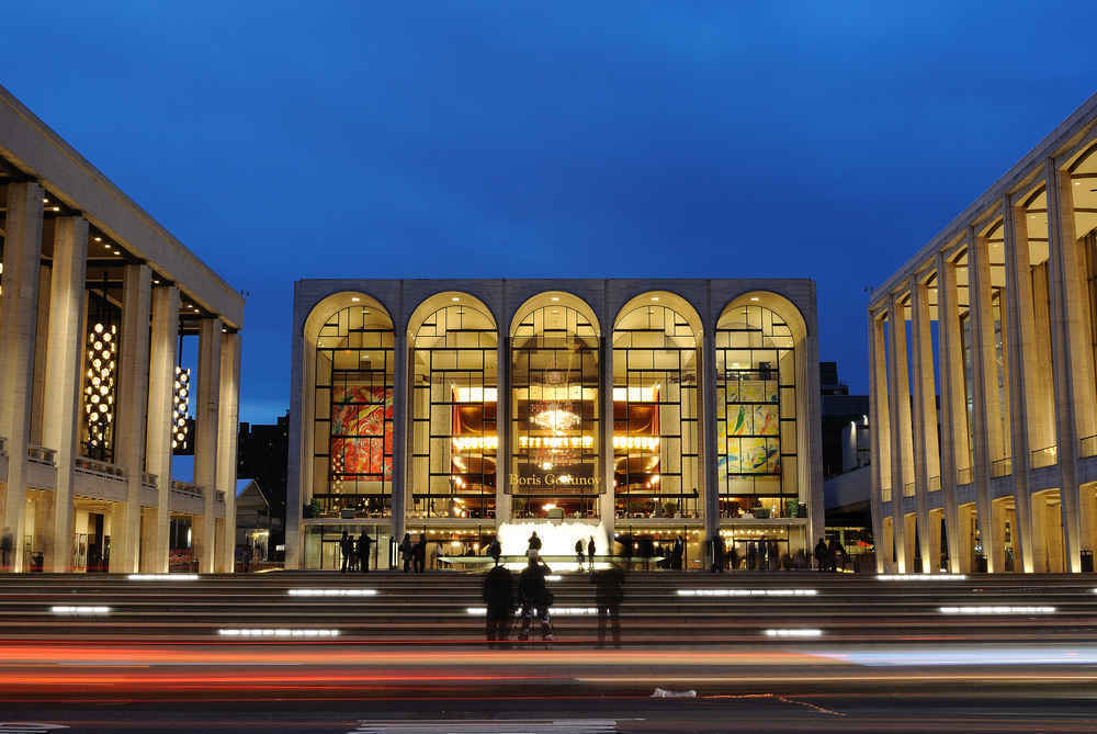 Lincoln Center Metropolitan Opera House on the Upper West Side of Manhattan