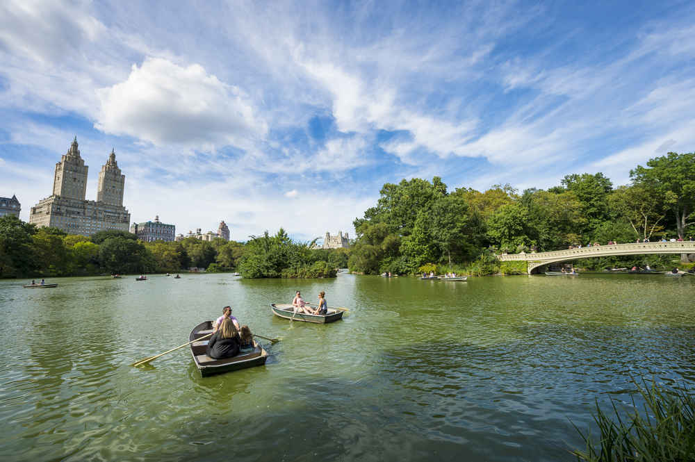 Rowboats in Central Park, Manhattan, New York