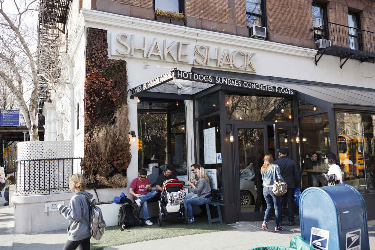 Shake Shack on Columbus Ave, Upper West Side Manhattan