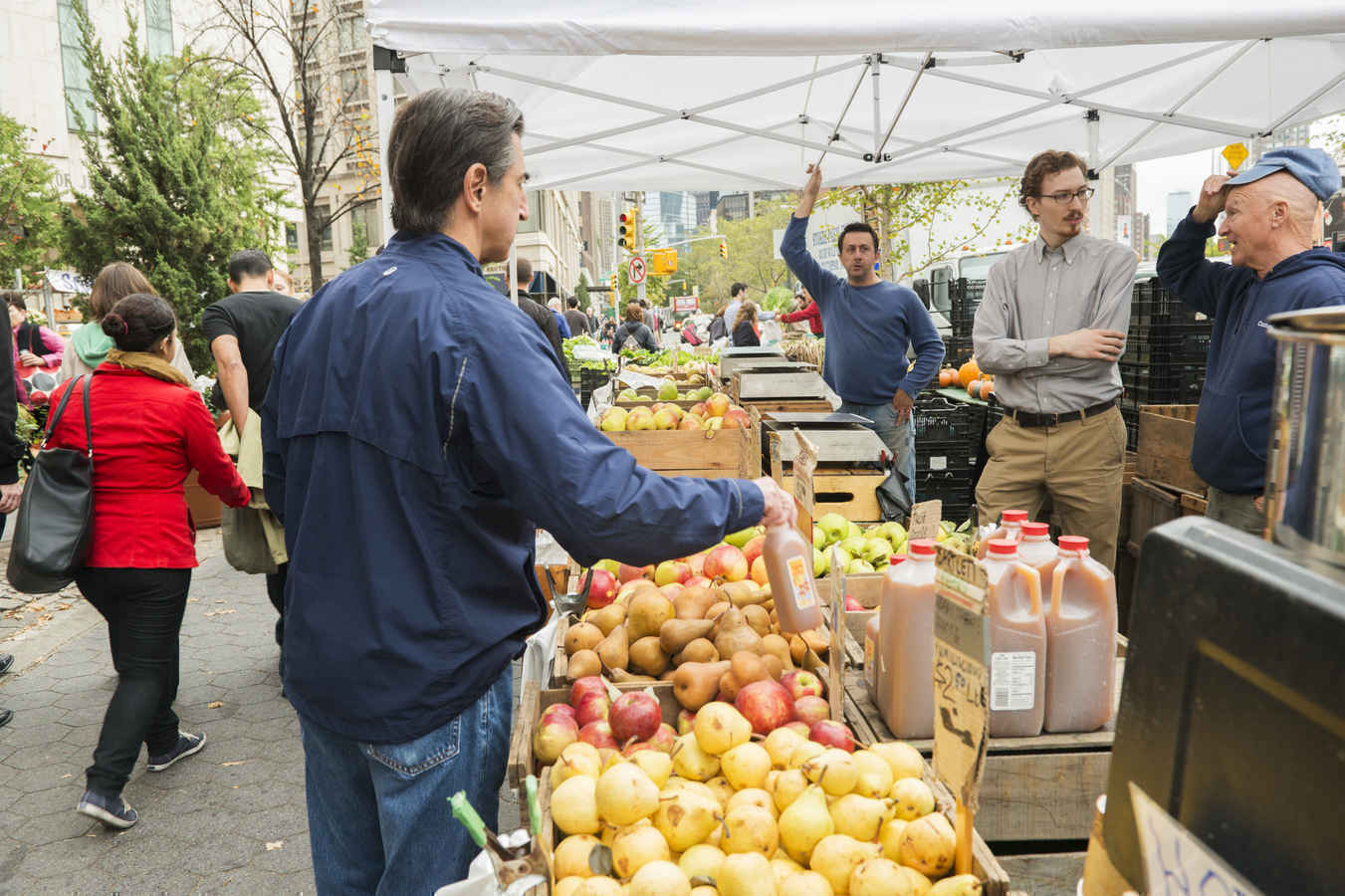 Farmers market on the Upper West Side Manhattan