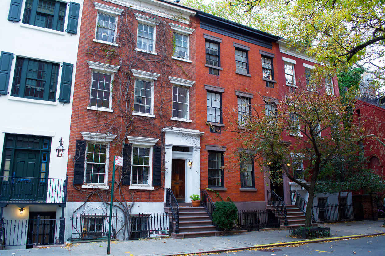 Townhouses in the West Village New York