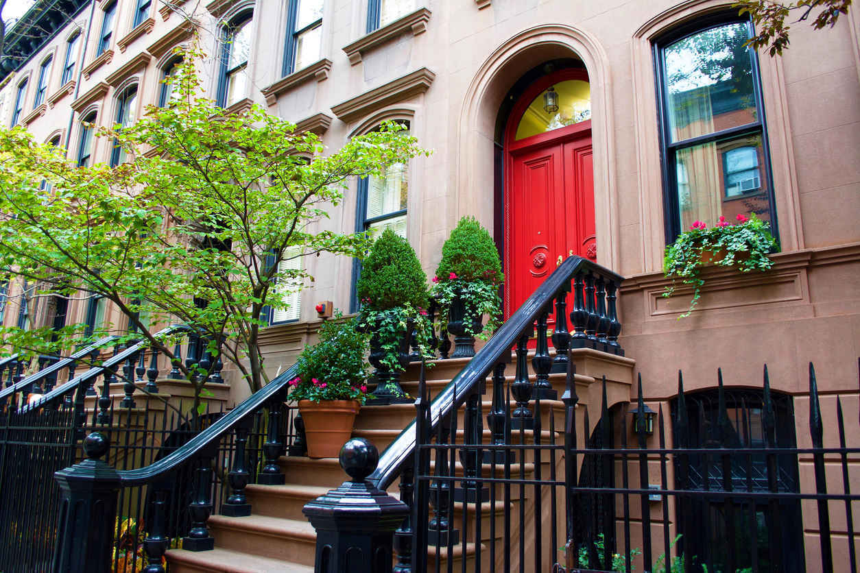 Brownstones in the West Village of Manhattan, New York