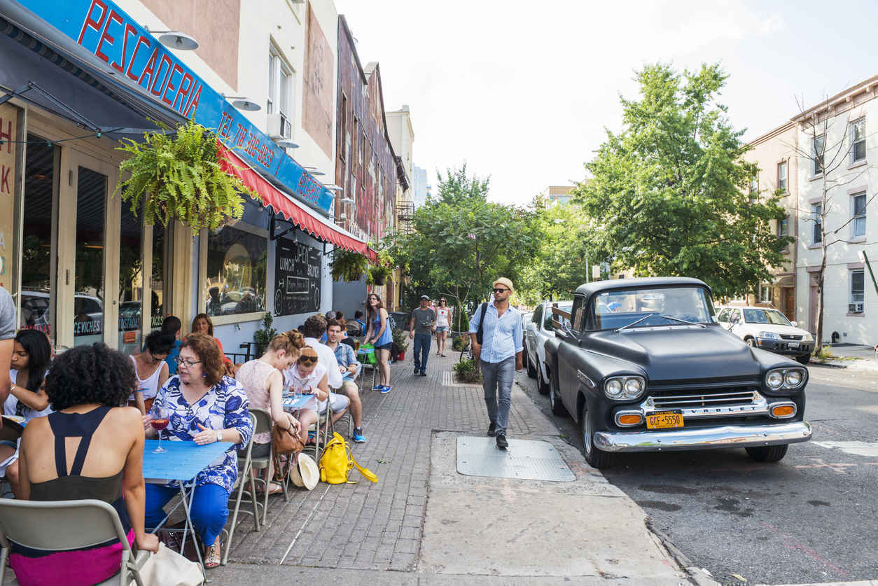 Diners at Restaurant in Williamsburg, Brooklyn