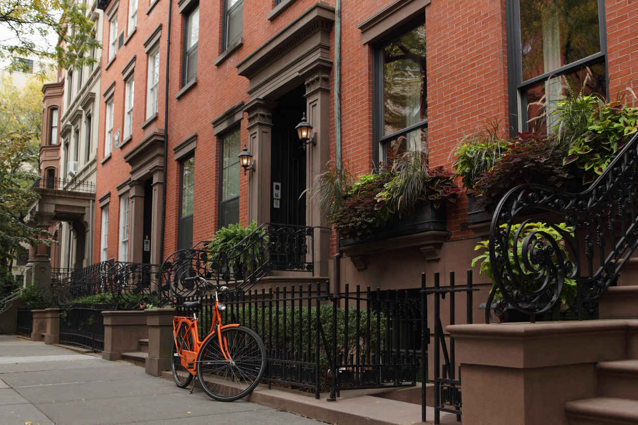 Residential brownstones, Brooklyn Heights, New York