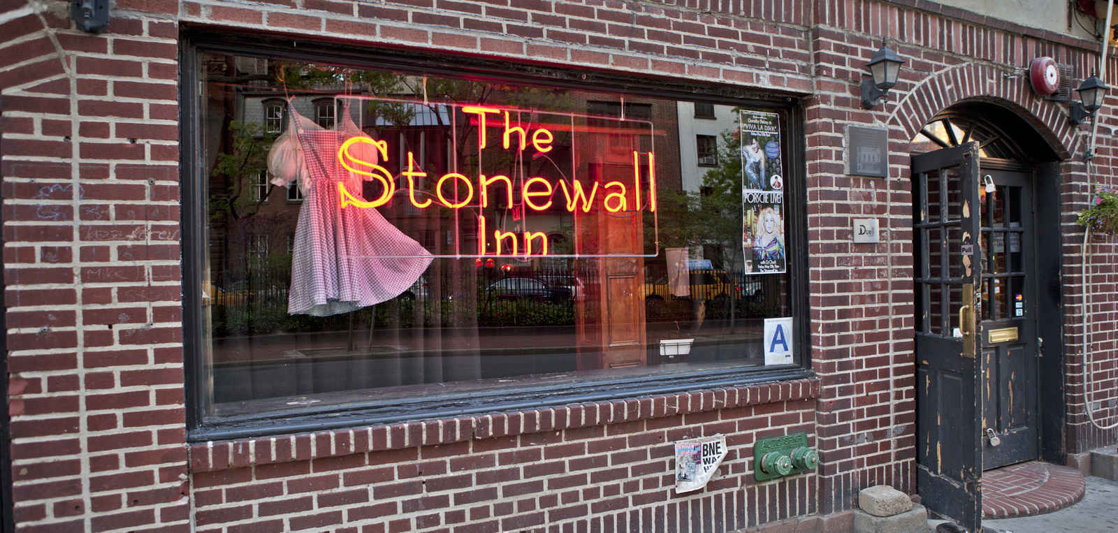 The Stonewall Inn bar and lounge in the West Village, Manhattan