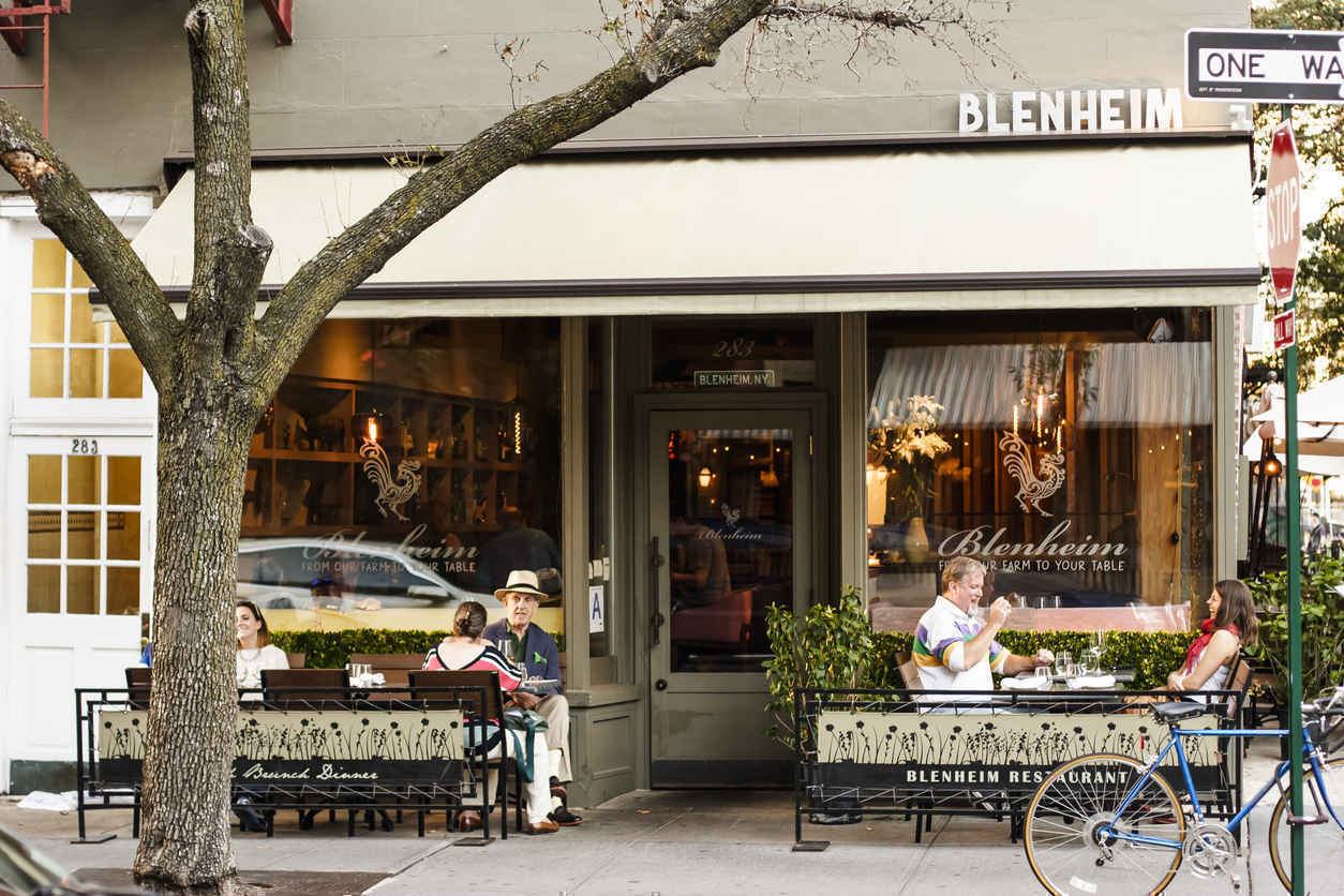 Blenheim restaurant in the West Village New York