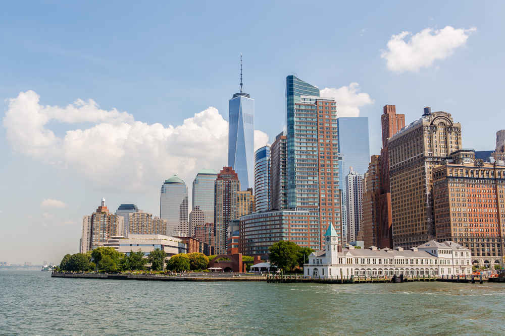 Panorama of Financial District, Manhattan, NYC