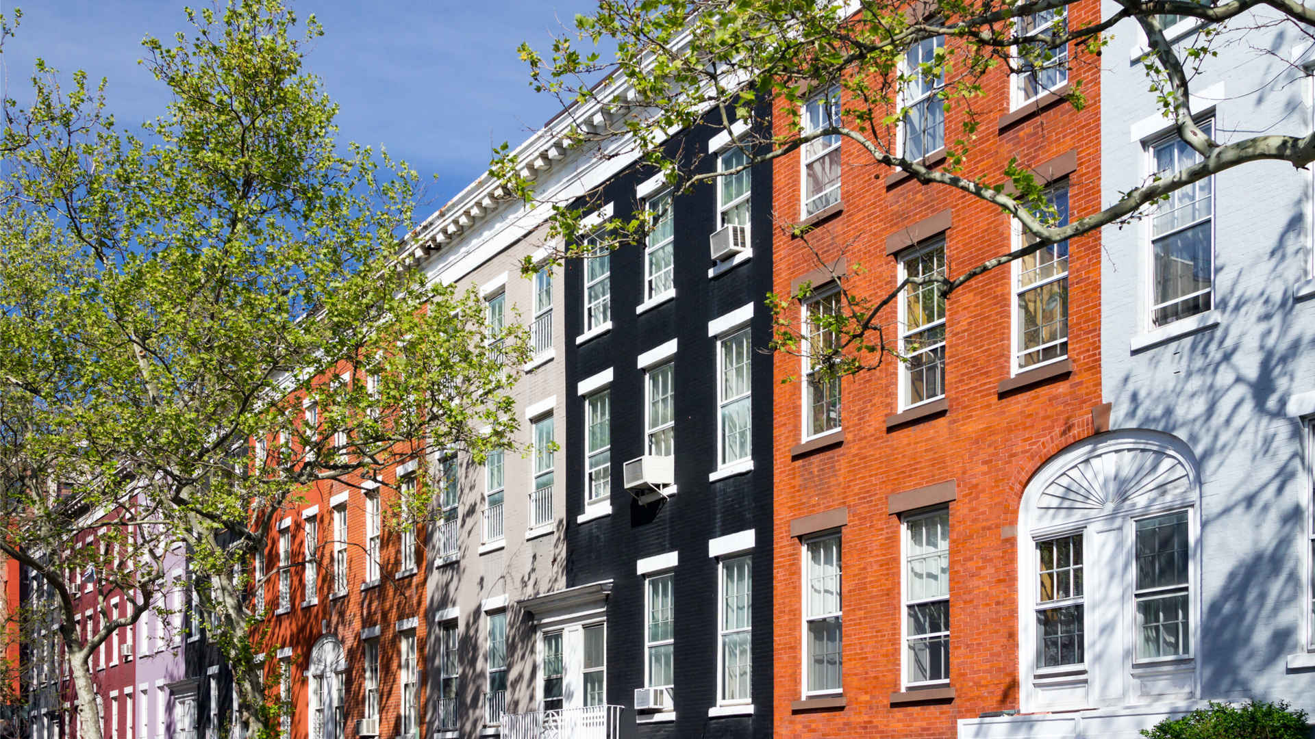 Apartment buildings in Greenwich Village, New  York