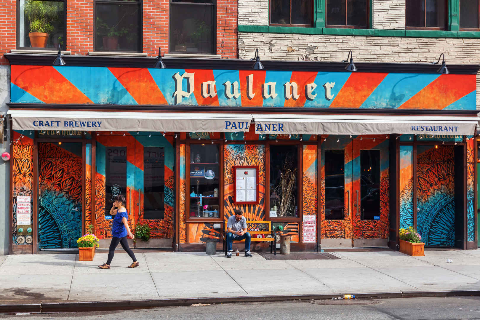 Paulaner pub and restaurant in the Bowery neighborhood of Manhattan, New York