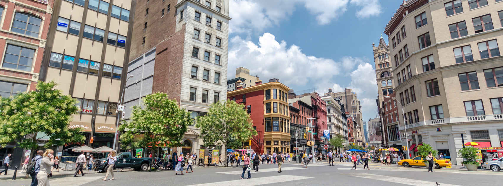 Panorama of Union Square Neighborhood in New York