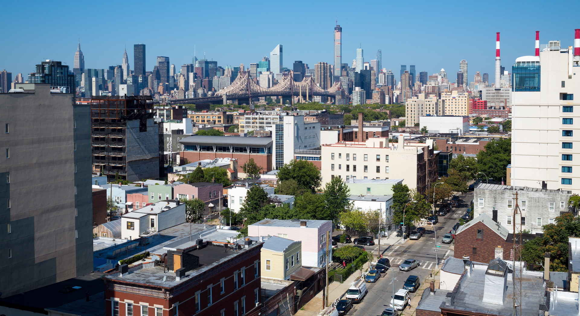 Panoramic view of Astoria neighborhood in Queens, New York
