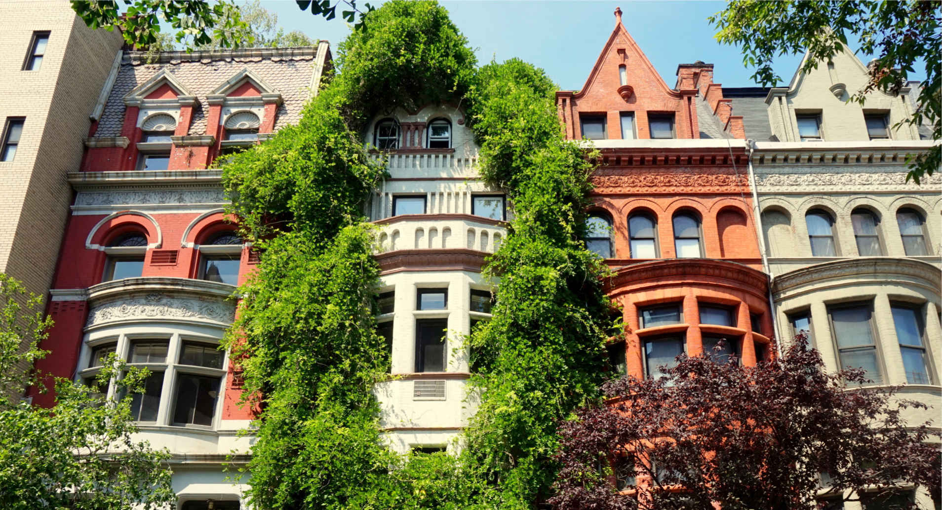 Residential architecture on the Upper West Side, Manhattan, New York