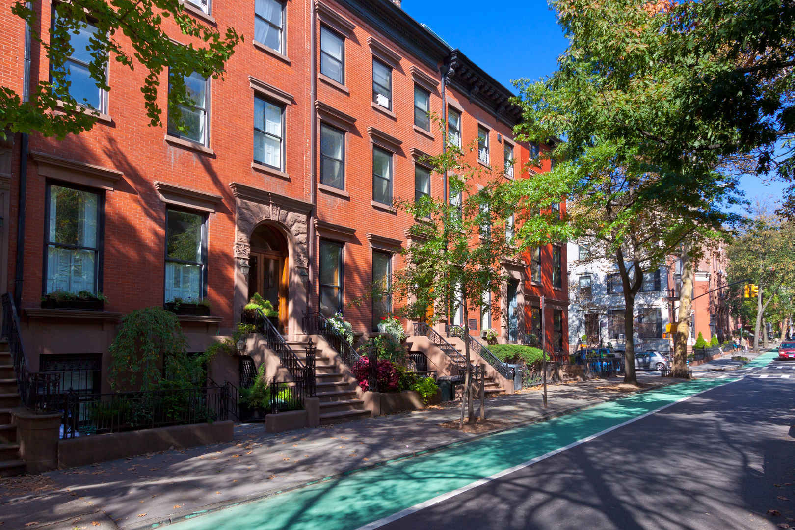 Residential townhouses in Brooklyn Heights, NYC